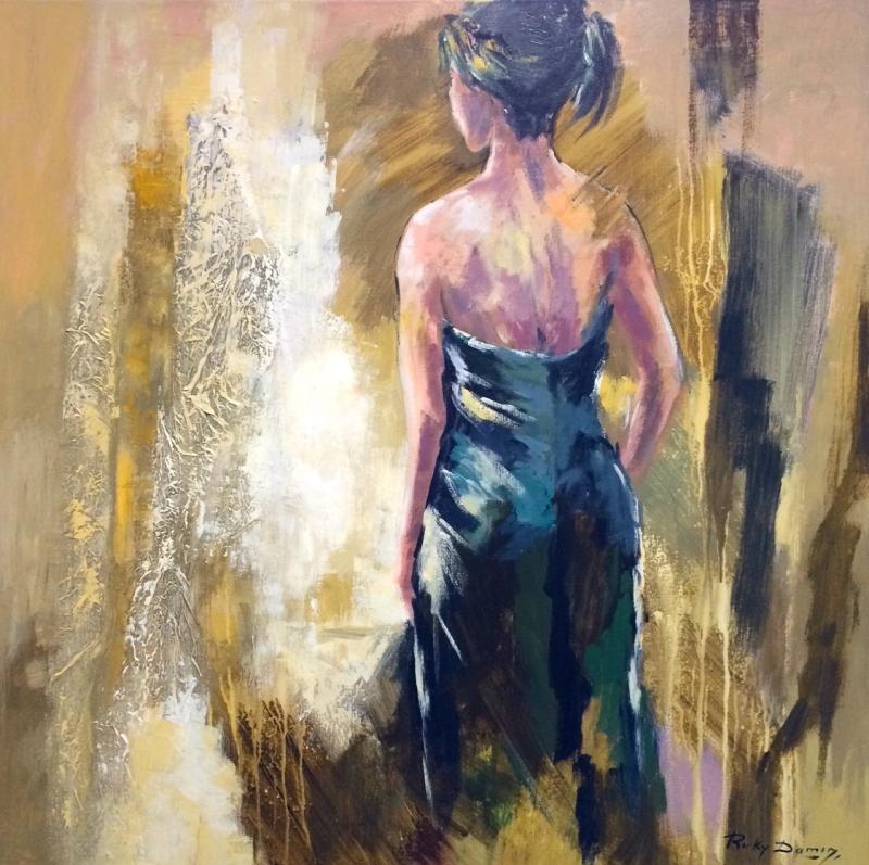 Ricky Damen schilderij 'My name is Jenny'