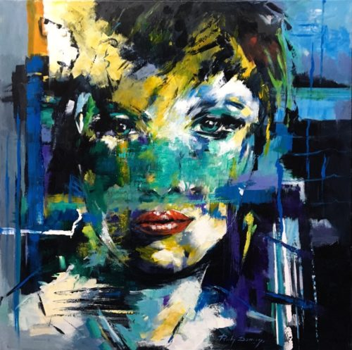 Ricky Damen schilderij 'Green Eyes'