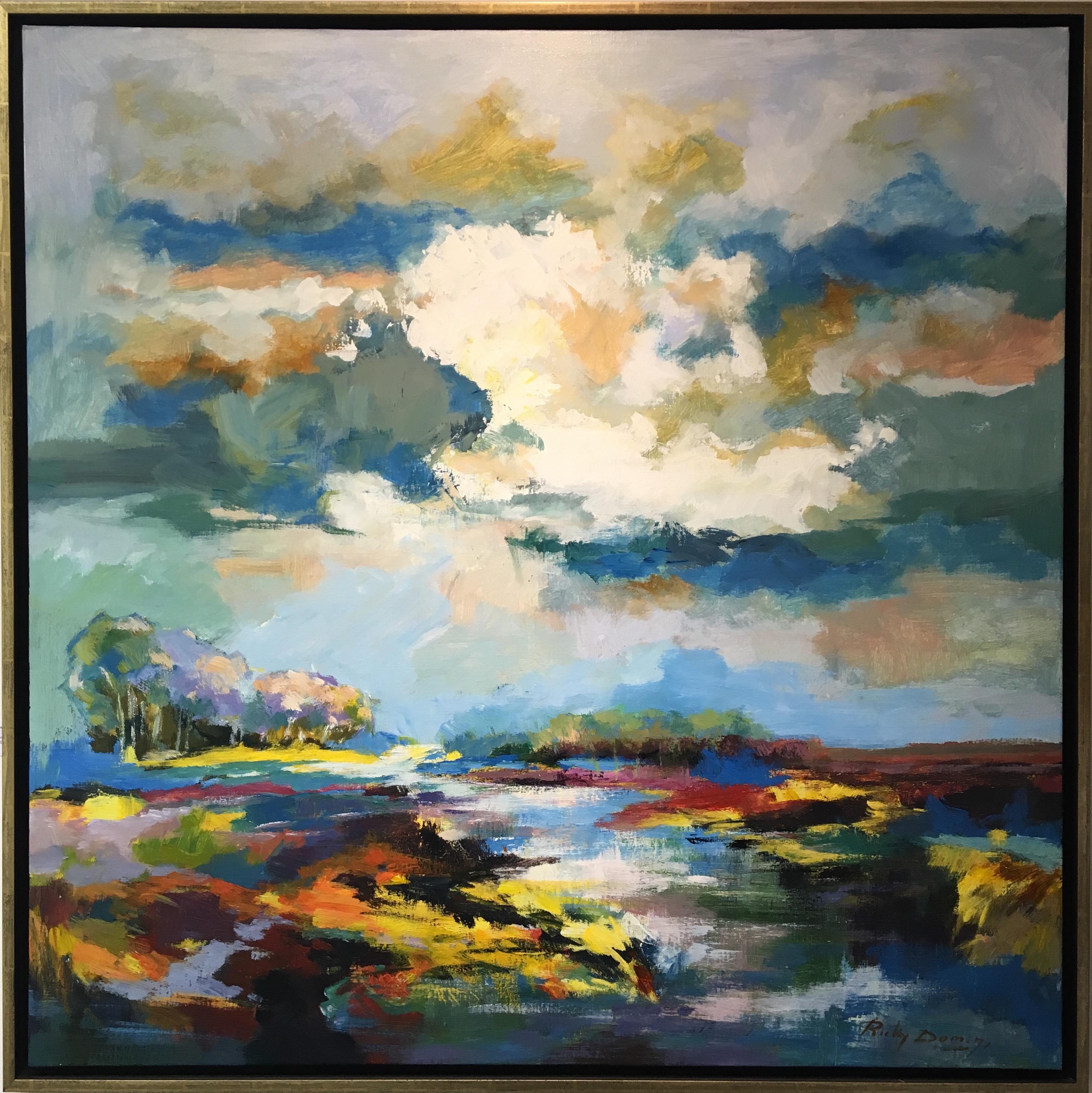 Ricky Damen schilderij 'Peellandschap I'