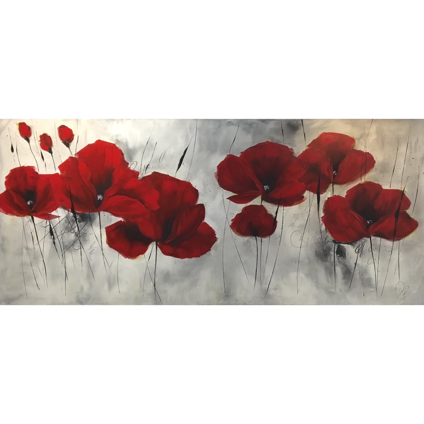 Isabelle Zacher-Finet schilderij 'Klaprozen'