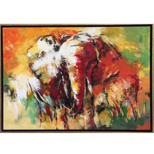 Ricky Damen schilderij 'India'