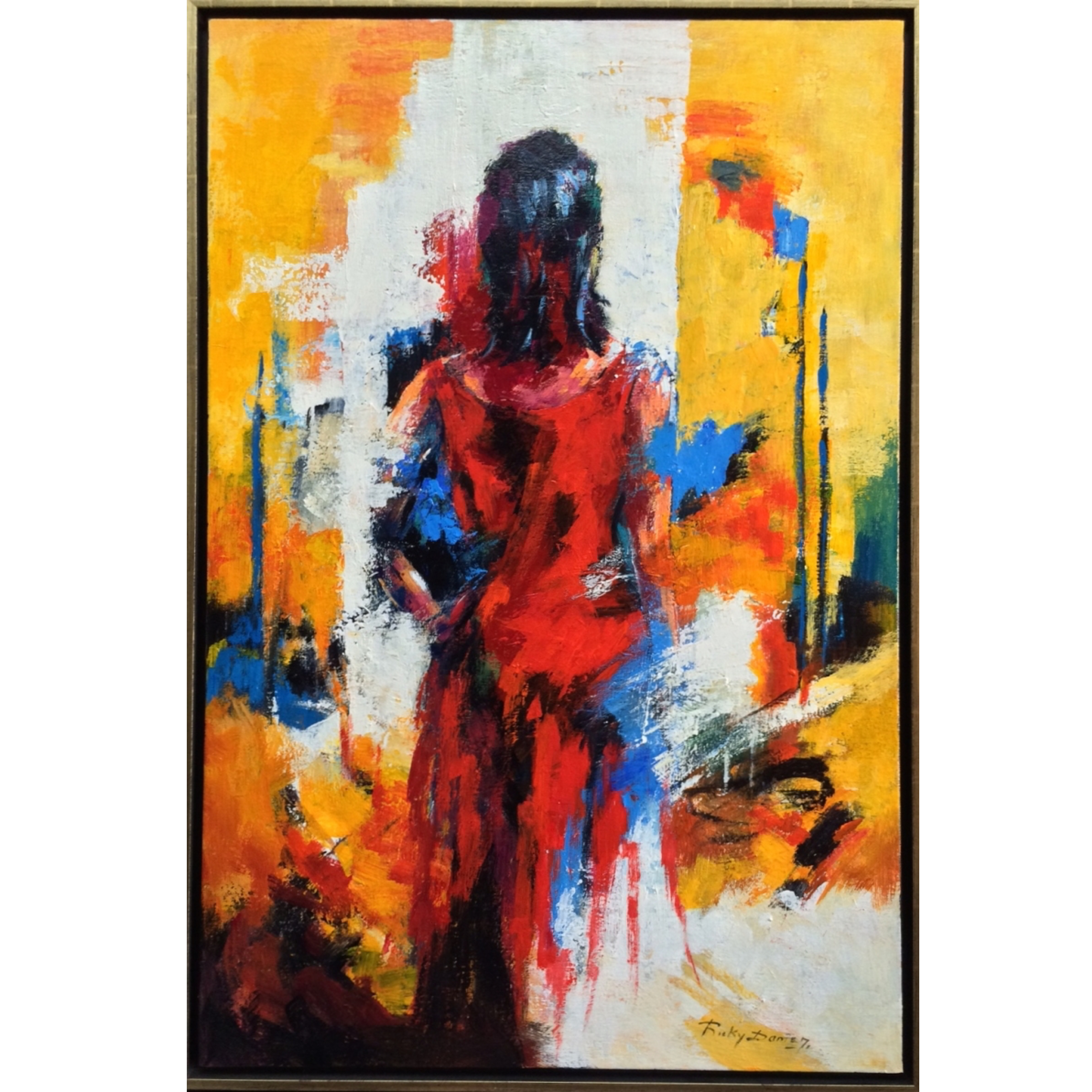 Ricky Damen schilderij 'Strong girl'