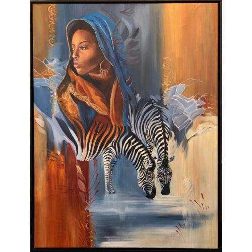 Vanessa Lomas schilderij 'My African Dream'