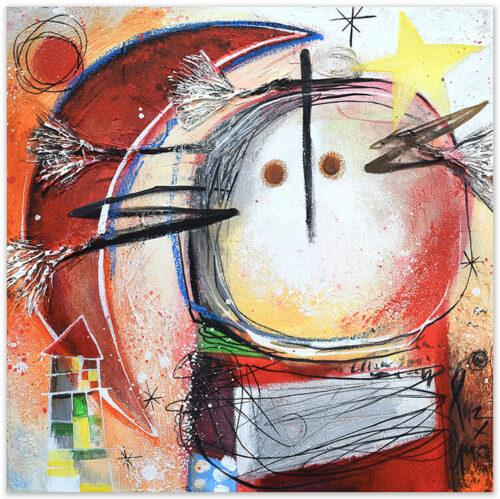 Angeles Nieto schilderij-estrella-amarilla-en-mi-pelo