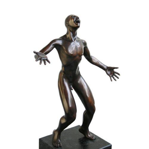 Frans van Straaten bronzen beeld 'Schreeuw'