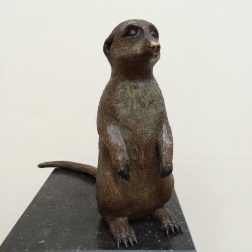 Laurens Spier bronzen beeld 'Stokstaartje'