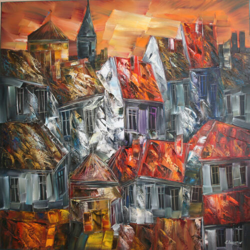 Sergei Inkatov schilderij 'Eternal Town'