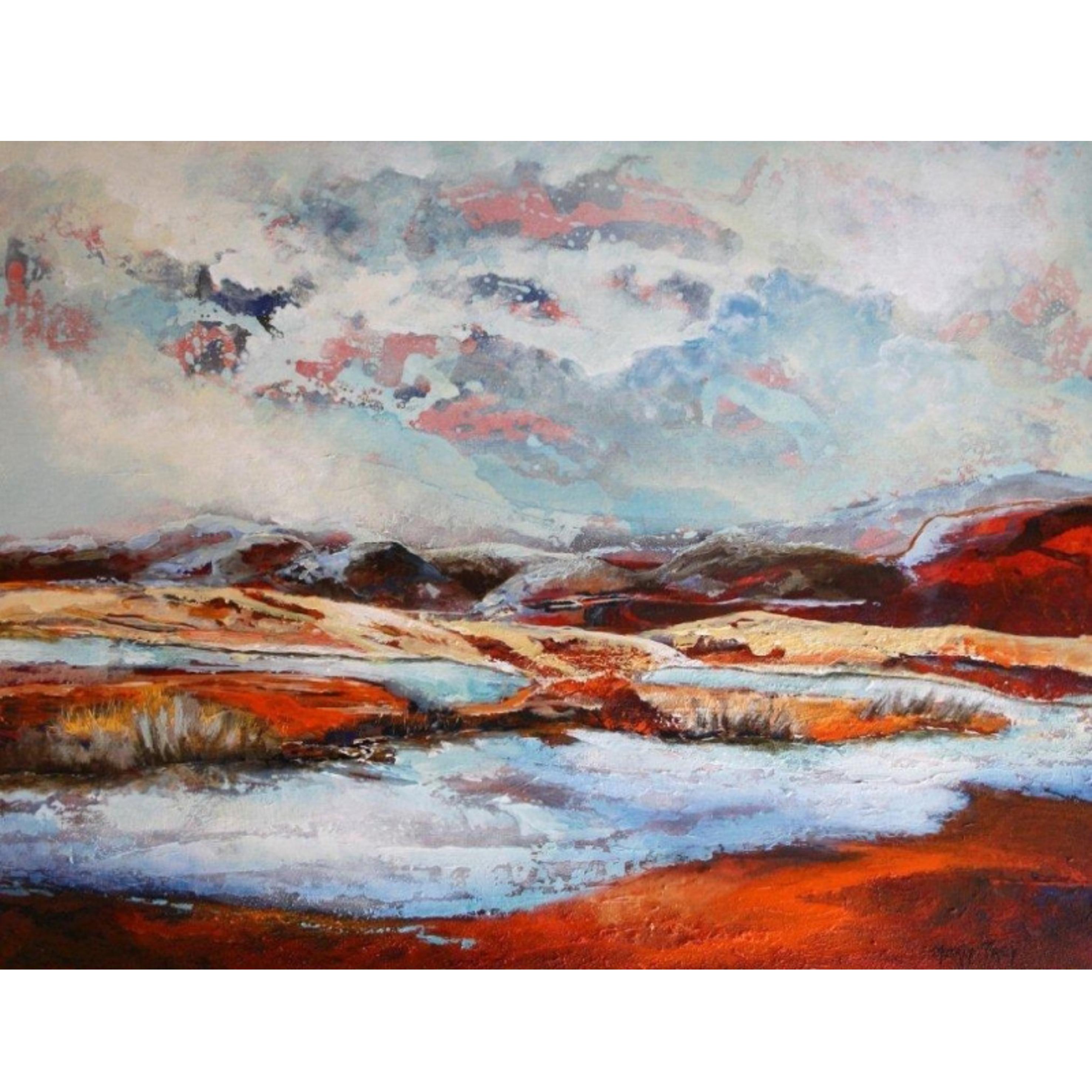 Voorkeur Marly Freij schilderij 'Landschap V' - Van Bellen Art &IE09