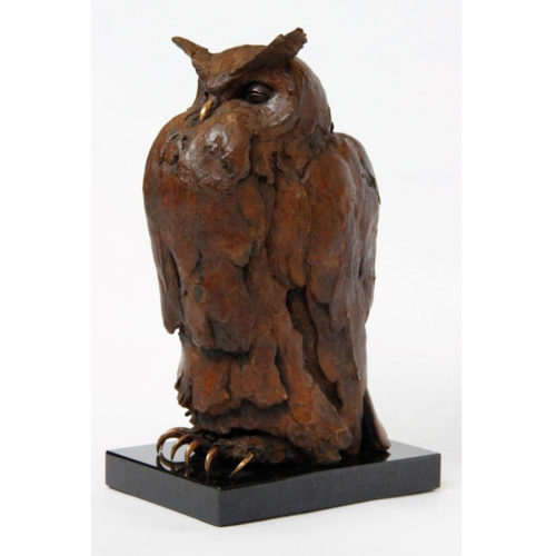 Anthon Hoornweg bronzen UIl 'Moss'