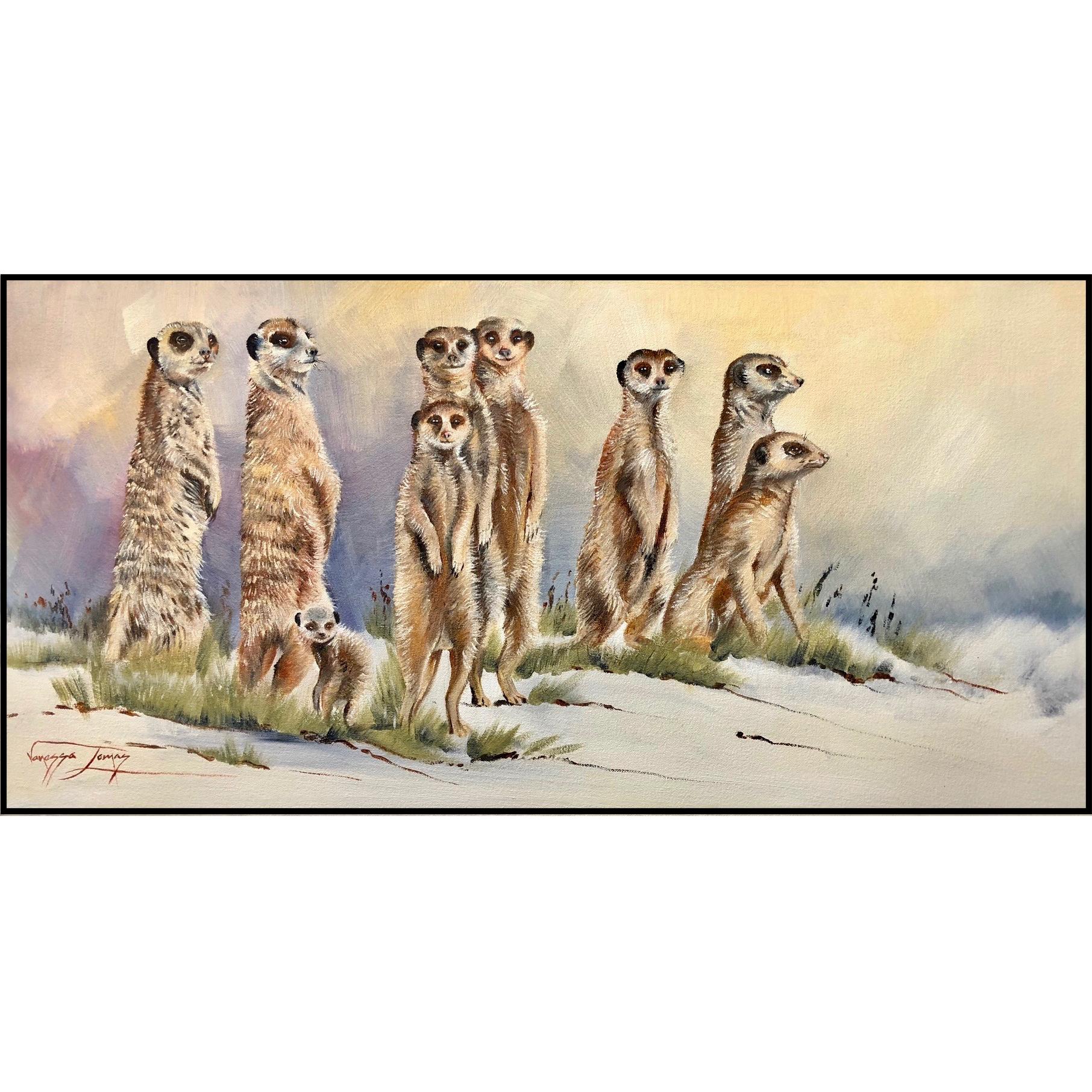 Vanessa Lomas schilderij 'The 'Lookout' Gang'