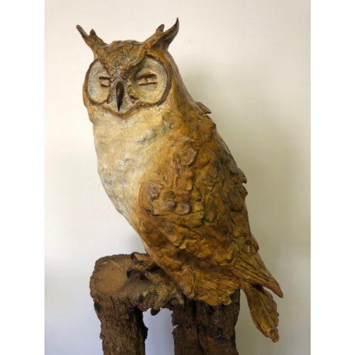 Rob Nagtzaam bronzen beeld 'Uil'