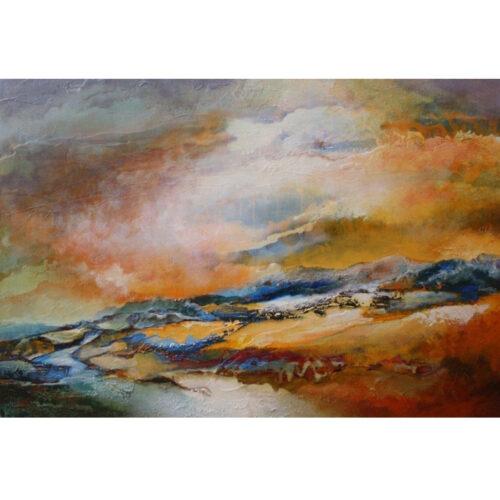 Marly Freij schilderij 'Landschap IV'