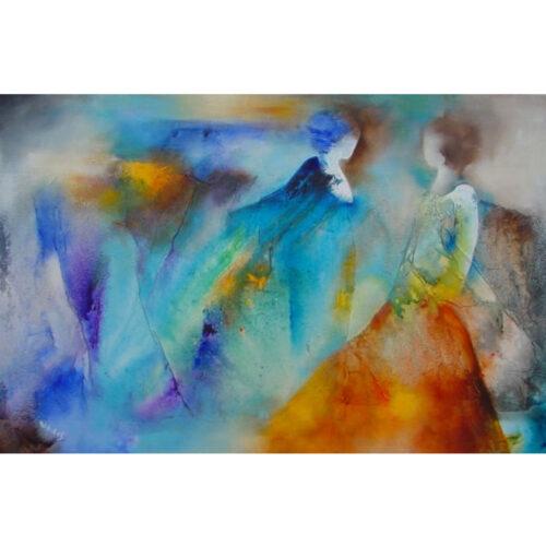 Wil Lof schilderij 'Teatro 711'