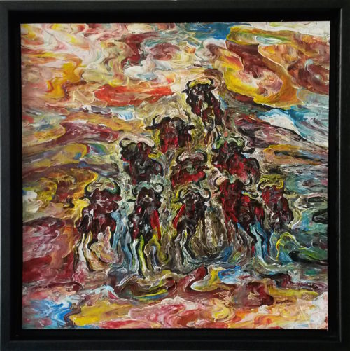 Kalungi Godfrey schilderij 'The Migration'