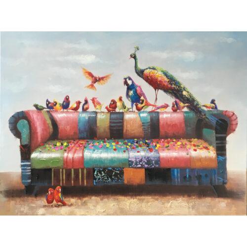 Schilderij 'Bankstel'