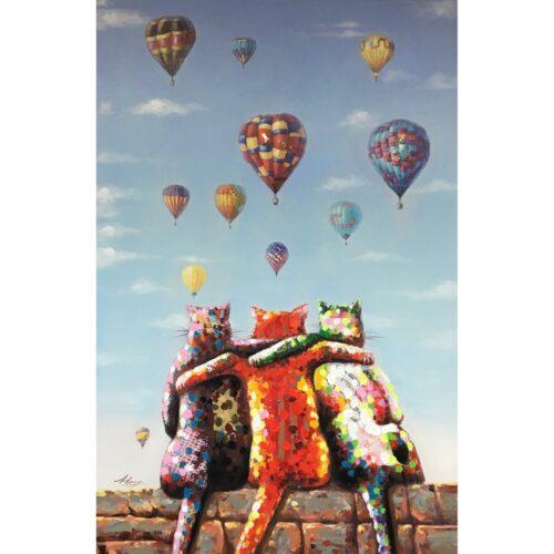DecoArt schilderij 'met ballonnen'