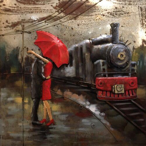 Metal Art 3D schilderij 'Station'