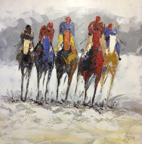 DecoArt schilderij polopaarden