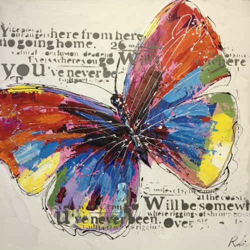 DecoArt schilderij 'Vlinder'