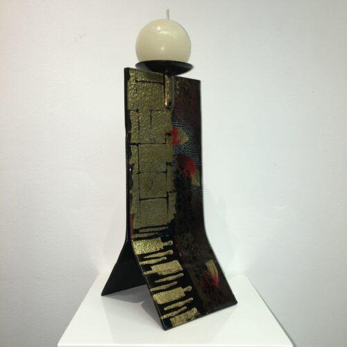 Design glas handbeschilderd 'Kandelaar gold