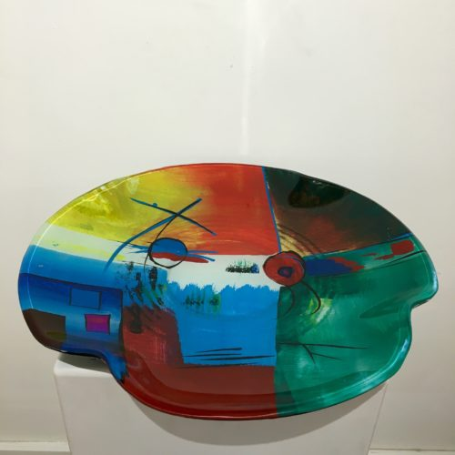 Design glas handbeschilderd 'Schaal rond 4708
