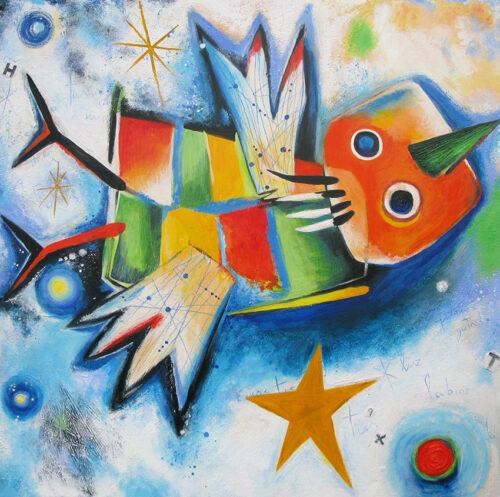 Angeles Nieto schilderij 'Pajaro'
