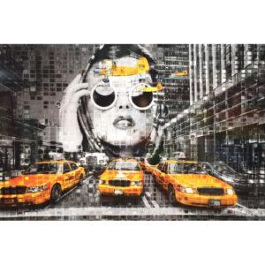 fotocompositie New-York cab.