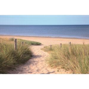 Foto op glas 'Beach View'