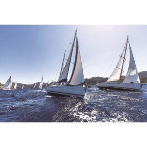 Foto op glas 'Sailing'