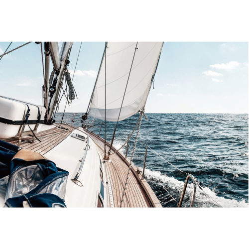 Foto op glas ' Zeilboot '