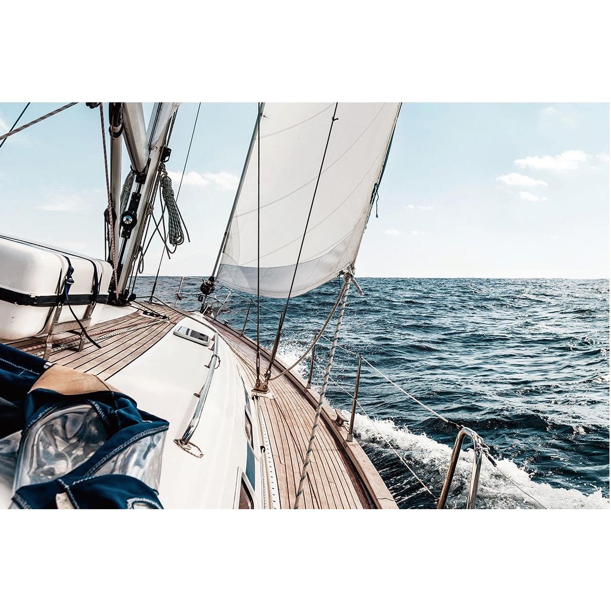 Foto op glas 'Zeilboot'