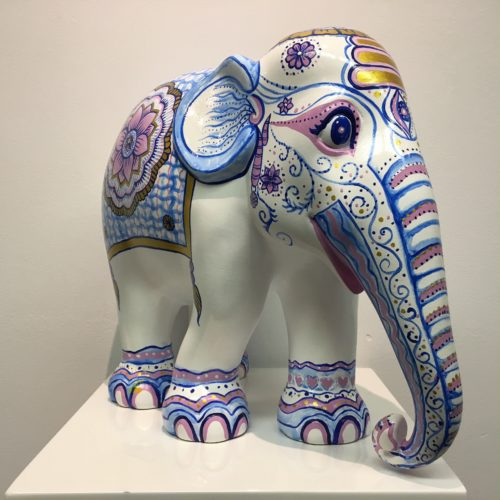 Elephant Parade beeld 'Indian Blues' 30 cm