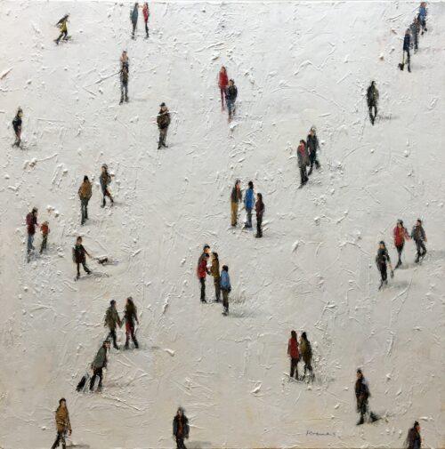 Christine Kremers schilderij 'Skaters'
