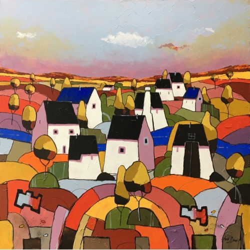 Hub peters schilderij 'White Village'