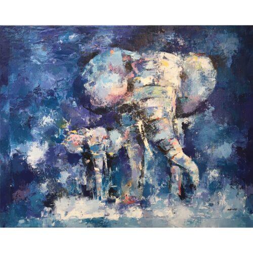 Kalungi Godfrey schilderij