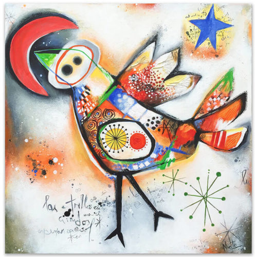 Angeles Nieto schilderij 'Canto del sol'