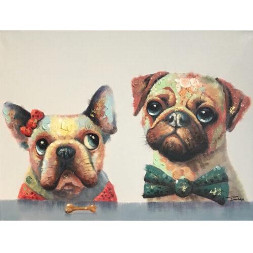 DecoArt schilderij 'Twee hondjes'