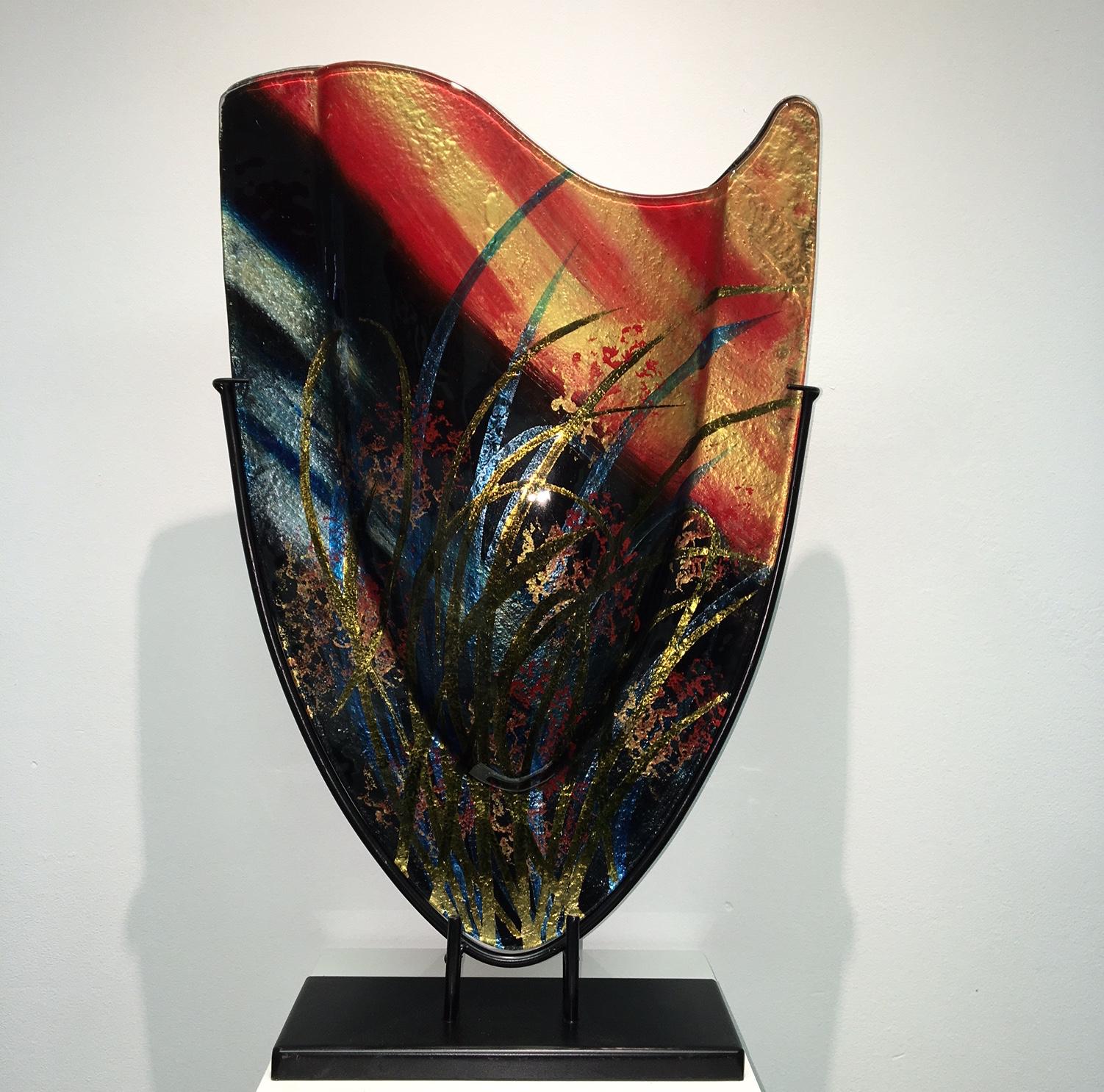 Design Glas 'Vaas hoog'
