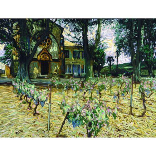 Tos Kostermans schilderij 'Bormes les Mimosas'