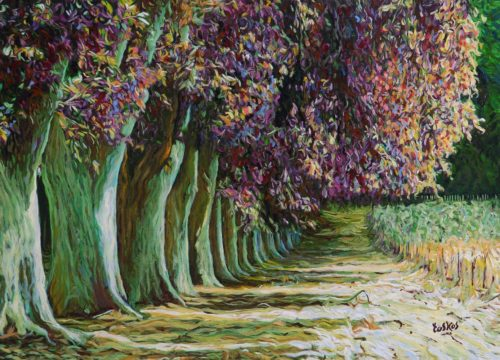 Tos Kostermans schilderij 'Colorful Trees'
