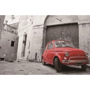 Foto op glas 'Fiat 500'
