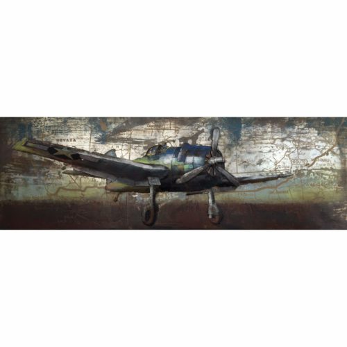Metal Art schilderij 'Airplane'