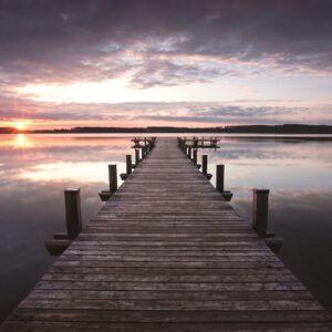 Foto op glas 'Sunset'