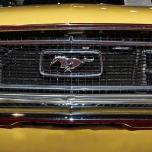 Foto op glas 'Vintage Mustang'