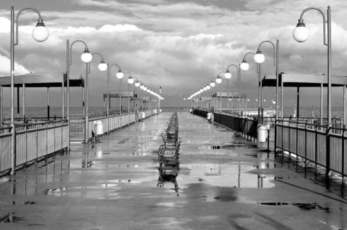 Foto op glas 'The pier'