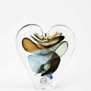 Loranto glas hart klein 'blauw,groen,beige'