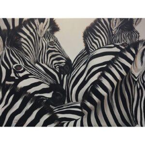Vanessa Lomas schilderij 'Zebra's'