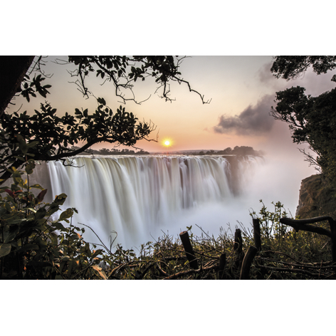 Foto op aluminium 'The Victoria Falls'