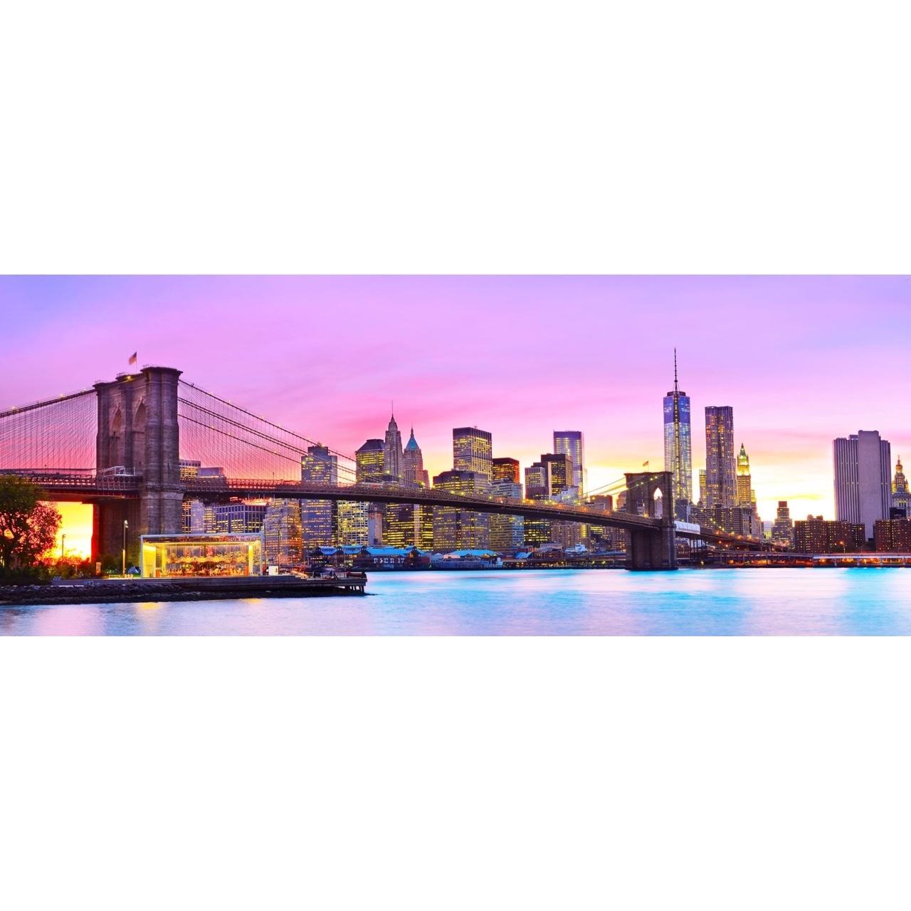foto op glas 39 new york skyline 39 60 x 160 cm