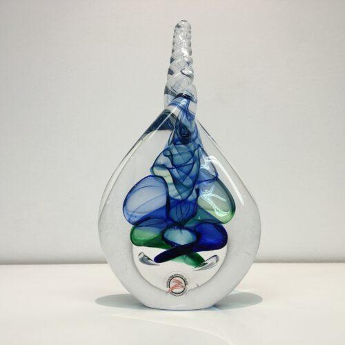 Loranto glas 'Druppel gedraaid blauw'